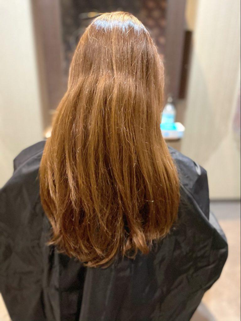 カット +カラー + TOKIOトリートメントで髪質改善